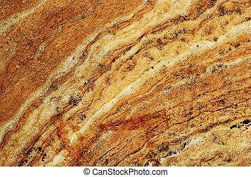 大理石, 茶色の 背景, 手ざわり