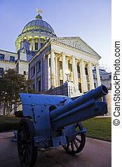 大砲, の前, 州国会議事堂ビル, 中に, ジャクソン