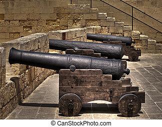 大砲, 中世
