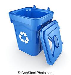 大箱, リサイクル, 青