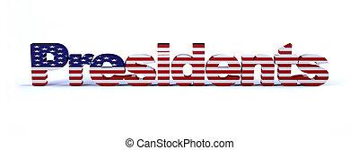 大統領, アメリカの旗, 印