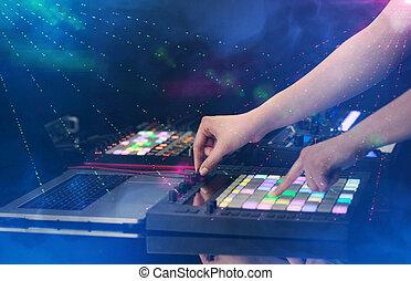 大约, 党, 颜色, midi, 俱乐部, 混合音乐, 控制器