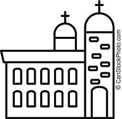 大聖堂, アウトライン, キリスト教徒, スタイル, アイコン