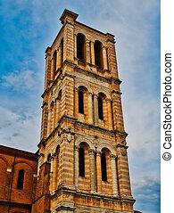 大聖堂, タワー, イタリア, ferrara, 鐘