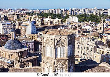 大聖堂, パノラマ, バレンシア