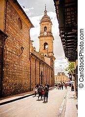 大聖堂, 中に, ボゴタ, colombia., candelaria