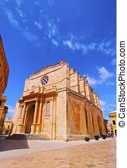 大聖堂, 中に, ciutadella, 上に, minorca
