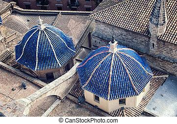 大聖堂, 光景, 航空写真, ドーム, バレンシア