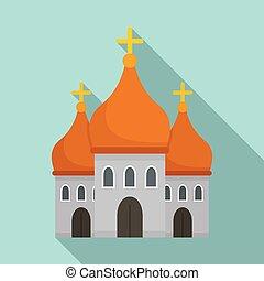大聖堂, 平ら, キリスト教徒, スタイル, アイコン