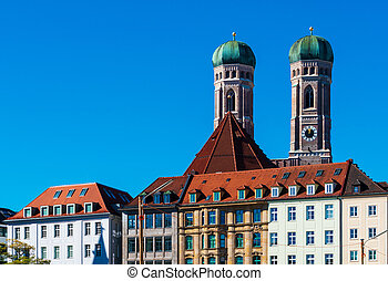 大聖堂, 親しい, 女性, ミュンヘン, ドイツ, 都市, frauenkirche, 私達の