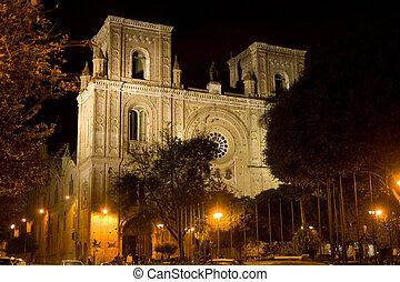 大聖堂, cuenca, 概念, エクアドル, しみ一つない