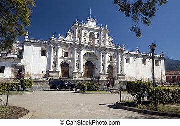 大聖堂, guatemala, san, antiguq, jose