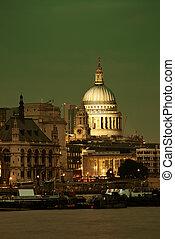 大聖堂, pauls, ロンドン, st.