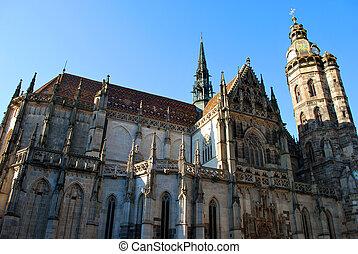 大聖堂, st. 。, スロバキア, kosice, elisabeth