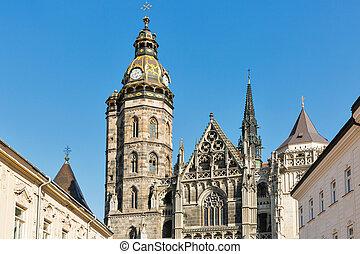大聖堂, st. 。, slovakia., エリザベス, kosice