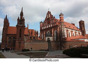 大聖堂, vilnius, lithuania., st.