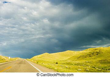 大草原, 路