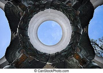 大西洋, アーチ, 第二次世界大戦, 記念, washington d.c.