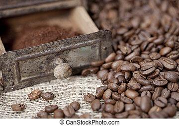 大豆, 咖啡磨工, 细节, 老