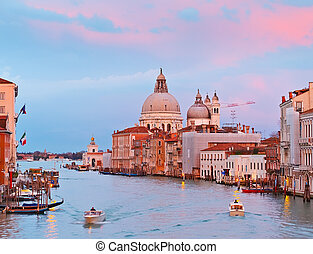 大运河, 在, 日落, 威尼斯
