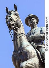 大道, 戰爭, 一般, 賓夕法尼亞, 華盛頓, 1896., henry, 奉獻, hancock, 民用, ellicot, 騎馬, winfield, 雕像, 建立, scott, dc., 紀念館