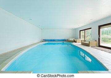 大邸宅, 贅沢, プール, 水泳