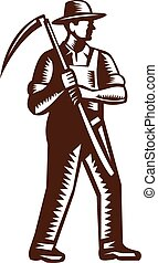 大鎌, 有機体である, 保有物, 木版, 農夫