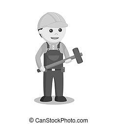 大锤, 建设工人