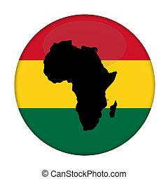 大陸, の, アフリカ, 旗, ボタン
