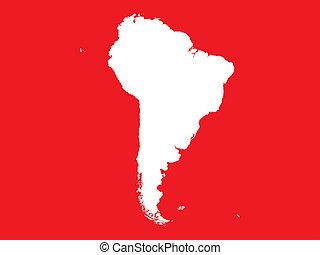 大陸, アメリカ, 形, 南