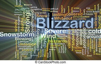 大風雪, 背景, 概念, 發光