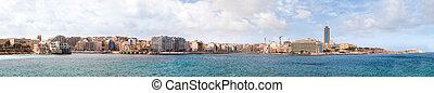 大, 全景, ......的, 聖徒, julians, 海灣, 在, malta.