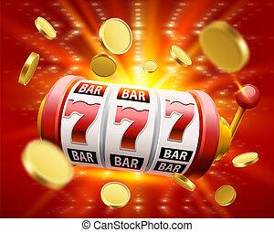 大, 取得胜利, 狭缝, 777, 旗帜, casino.
