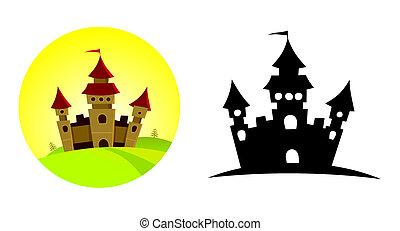 大, 城堡, 上, the, 小山