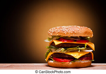 大, 汉堡包