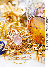 大, 珠宝, 金子, 收集