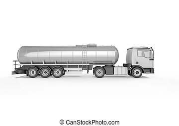 大, 罐車, 被隔离, 在懷特上, 背景