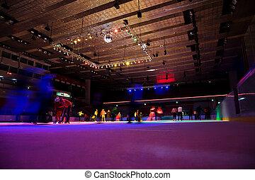 大, 蓋, 溜冰場, 由于, multi-coloured, 闡明, 在, 運動, 複雜, 上, 溜冰場, 集合,...