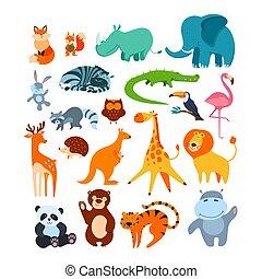 大, 集合, 動物