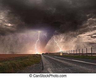 大, 龙卷风, 灾祸