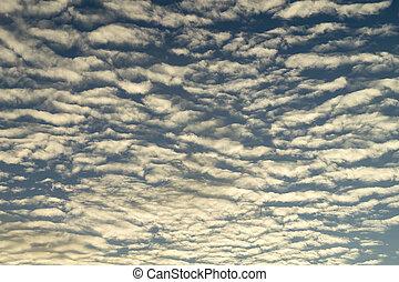 天上, 風景, 由于, 雲