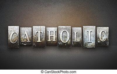 天主教徒, letterpress