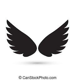 天使, アイコン, 翼