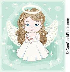 天使, クリスマス, 赤ん坊