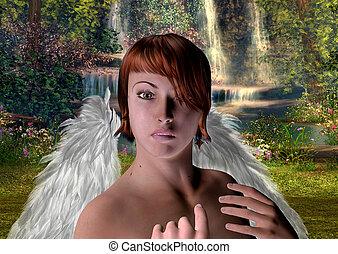 ∥, 天使, 中に, ∥, マジック, forest.
