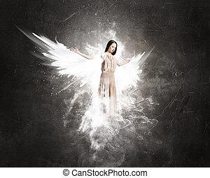 天使, 女の子, 服