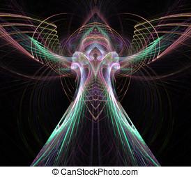天使, 流れること, 抽象的
