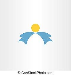 天使, 要素, ベクトル, ロゴ, 翼, アイコン