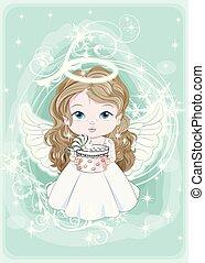 天使, 贈り物, クリスマス, 赤ん坊