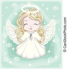 天使, 赤ん坊, 贈り物, クリスマス